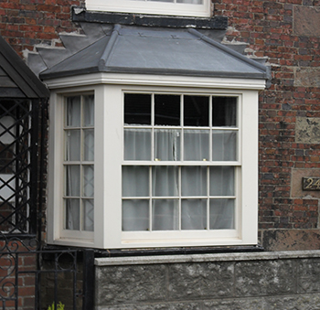 Painted Bay Sash Window, Ipstones, Staffordshire